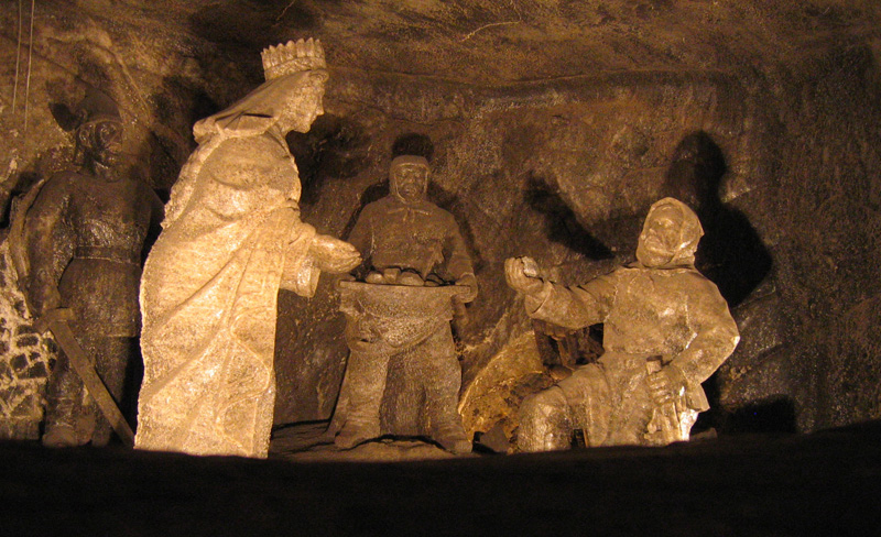 Salt Statues in the Wieliczka Salt Mine