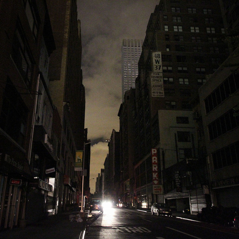 Manhattan in the dark