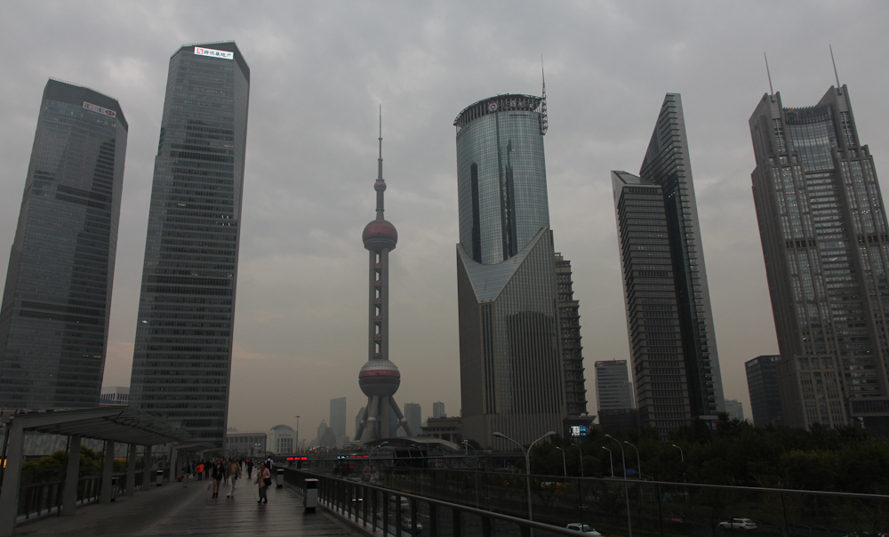 Rainy day in Pudong